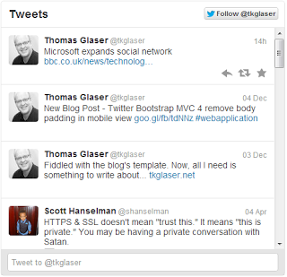 A Simple Twitter Feed in MVC 4 Using The RESTful Twitter API